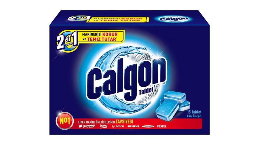 CALGON washingmachine 2 in1 dominokala 02 - قرص جرمگیر ماشین لباسشویی 15 تایی کلگون GALGON 2 in 1