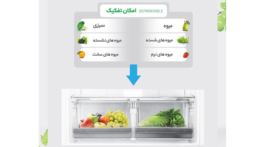 daewoo refrigerator freezer d2bf 0028lw dominokala 7 - یخچال فریزر دوو D4BF-0028