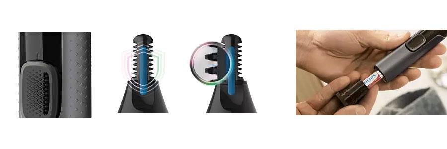 Nose trimmer series 3000 PHILIPS NT3650 dominokala 09 - موزن بینی، گوش و ابرو فیلیپس NT3650