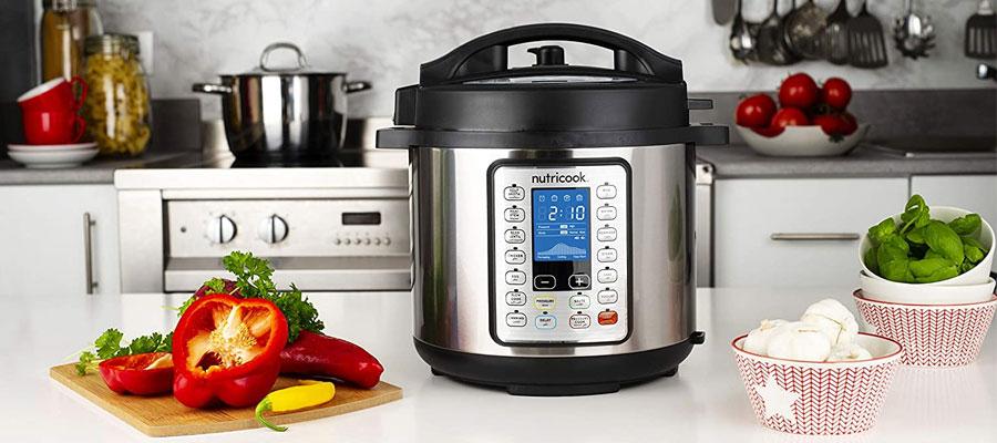 NutriCook Smart Pot Pressure Cooker Prime 6L 1000W NC SPPR6 dominokala 010 - مولتی کوکر نوتریکوک NC-SPGD6