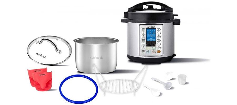 NutriCook Smart Pot Pressure Cooker Prime 6L 1000W NC SPPR6 dominokala 04 - مولتی کوکر نوتریکوک NC-SPGD6