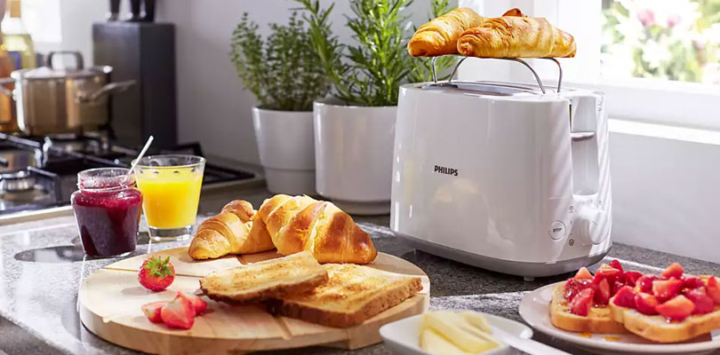 PHILIPS toaster hd2581 dominokala 04 - توستر فیلیپس HD2581