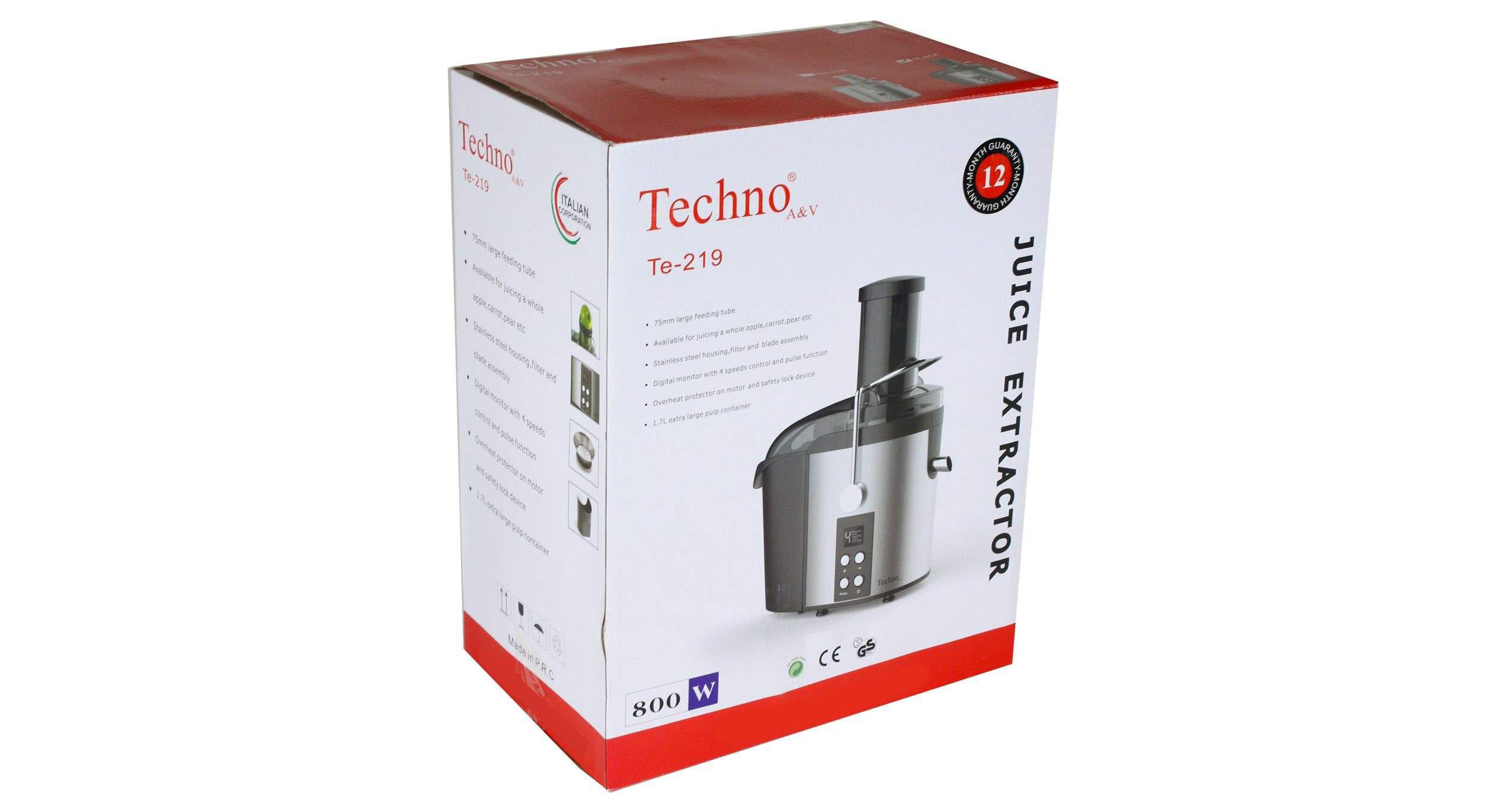 Techno Te 219 Juicer dominokala 4 - آبمیوه گیری تکنو TE-219